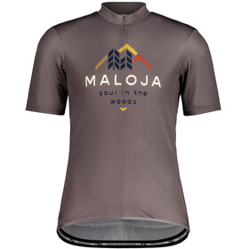 Maloja SchwarzerleM. 1/2 Short Sleeve Bike Jersey Men stone